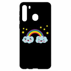 Чехол для Samsung A21 Happy rainbow