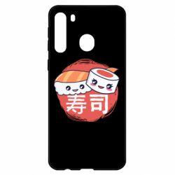 Чехол для Samsung A21 Happy sushi