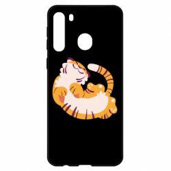Чехол для Samsung A21 Happy tiger