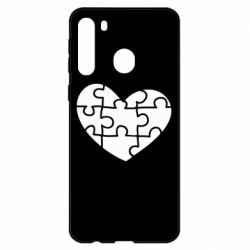 Чехол для Samsung A21 Heart and puzzle