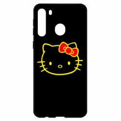 Чехол для Samsung A21 Hello Kitty logo