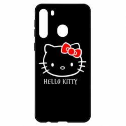 Чехол для Samsung A21 Hello Kitty