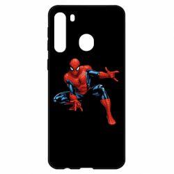 Чехол для Samsung A21 Hero Spiderman