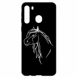 Чехол для Samsung A21 Horse contour