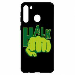 Чехол для Samsung A21 Hulk fist