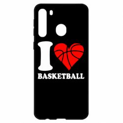 Чехол для Samsung A21 I love basketball
