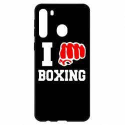 Чехол для Samsung A21 I love boxing