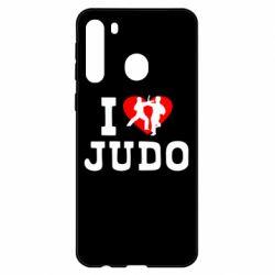 Чехол для Samsung A21 I love Judo