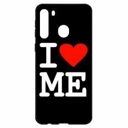 Чехол для Samsung A21 I love ME