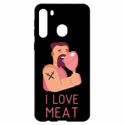 Чехол для Samsung A21 I Love meat