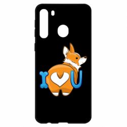 Чехол для Samsung A21 I love you corgi