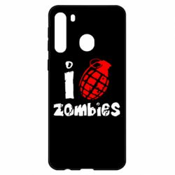 Чехол для Samsung A21 I love zombies