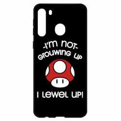 Чехол для Samsung A21 I'm not growing up, i level up