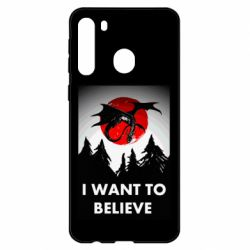 Чехол для Samsung A21 I want to BELIEVE poster