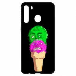 Чехол для Samsung A21 Ice cream with face