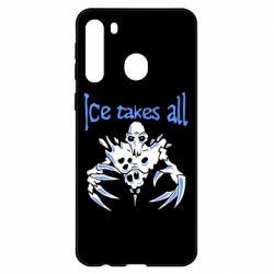 Чехол для Samsung A21 Ice takes all Dota