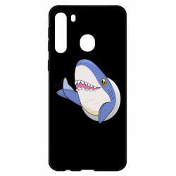Чехол для Samsung A21 Ikea Shark Blahaj