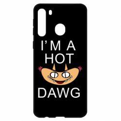 Чехол для Samsung A21 Im hot a dawg