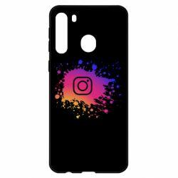Чехол для Samsung A21 Instagram spray
