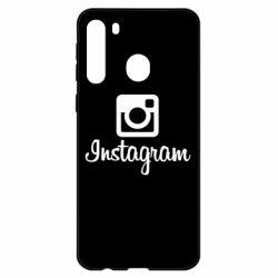 Чехол для Samsung A21 Instagram