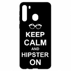 Чехол для Samsung A21 Keep calm an hipster on