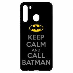 Чехол для Samsung A21 KEEP CALM and CALL BATMAN