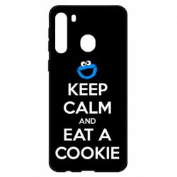 Чехол для Samsung A21 Keep Calm and Eat a cookie
