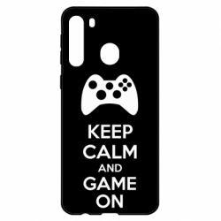 Чехол для Samsung A21 KEEP CALM and GAME ON