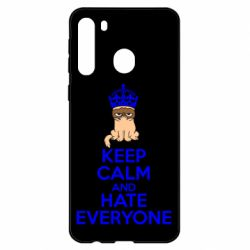 Чехол для Samsung A21 KEEP CALM and HATE EVERYONE