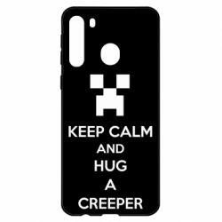 Чехол для Samsung A21 KEEP CALM and HUG A CREEPER