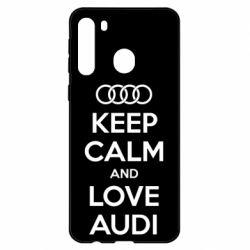Чехол для Samsung A21 Keep Calm and Love Audi