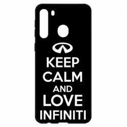 Чехол для Samsung A21 KEEP CALM and LOVE INFINITI
