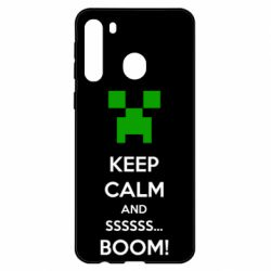 Чехол для Samsung A21 Keep calm and ssssssss...BOOM!