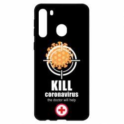 Чехол для Samsung A21 Kill coronavirus the doctor will help