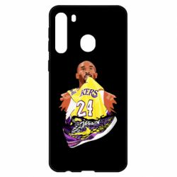 Чехол для Samsung A21 Kobe Bryant and sneakers