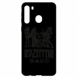 Чехол для Samsung A21 Led-Zeppelin Art
