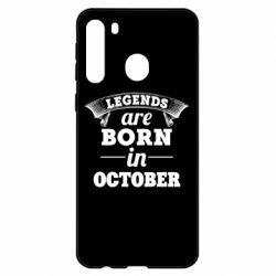 Чехол для Samsung A21 Legends are born in October