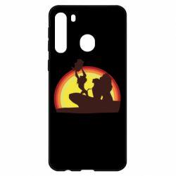 Чехол для Samsung A21 Lion king silhouette