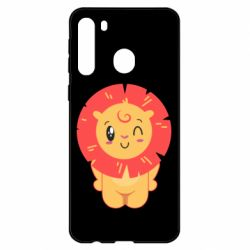 Чехол для Samsung A21 Lion with orange mane