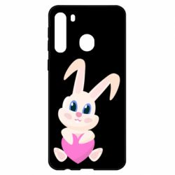 Чехол для Samsung A21 Little rabbit with a heart