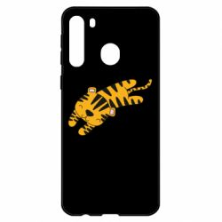 Чехол для Samsung A21 Little striped tiger