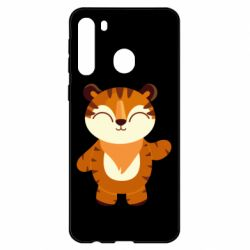 Чехол для Samsung A21 Little tiger with a smile