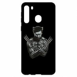 Чехол для Samsung A21 Logan Wolverine vector
