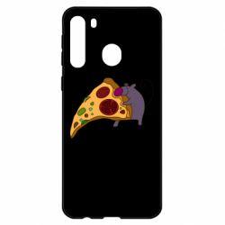 Чехол для Samsung A21 Love Pizza 2