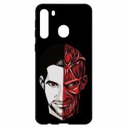Чехол для Samsung A21 Lucifer the man and the devil