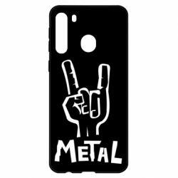 Чехол для Samsung A21 Metal