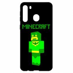 Чехол для Samsung A21 Minecraft Batman