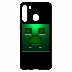 Чехол для Samsung A21 Minecraft Face