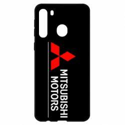 Чехол для Samsung A21 Mitsubishi Motors лого