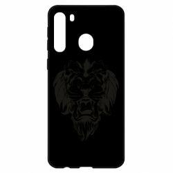 Чехол для Samsung A21 Muzzle of a lion